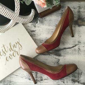 Kate Spade brogue heels sz 8.5